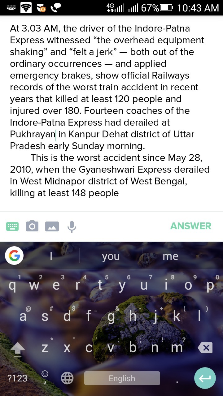 rscently patna train accident writing paragraph report