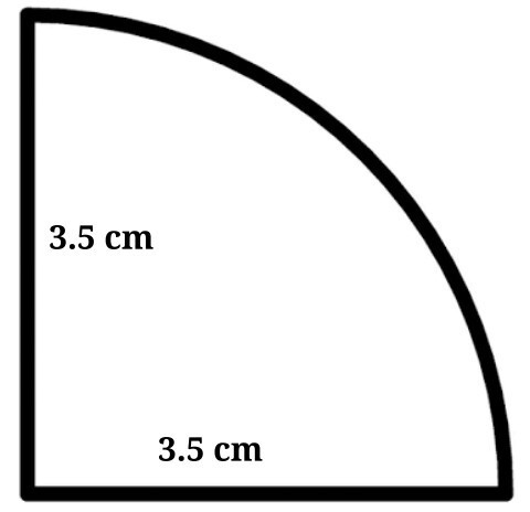 The Radius Is 3 5 Cm Find The Perimeter Of The Quarter Of The Circle Correct To One Decimal Place Brainly In