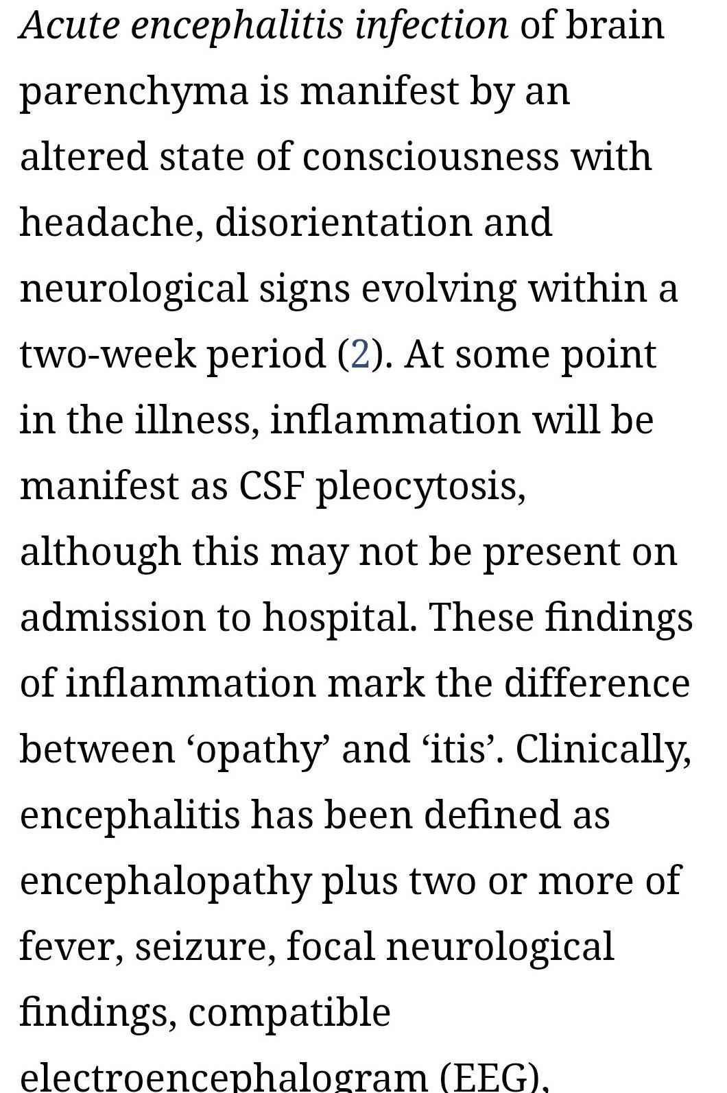 Medical terms acute menyoen encephalitis with definition