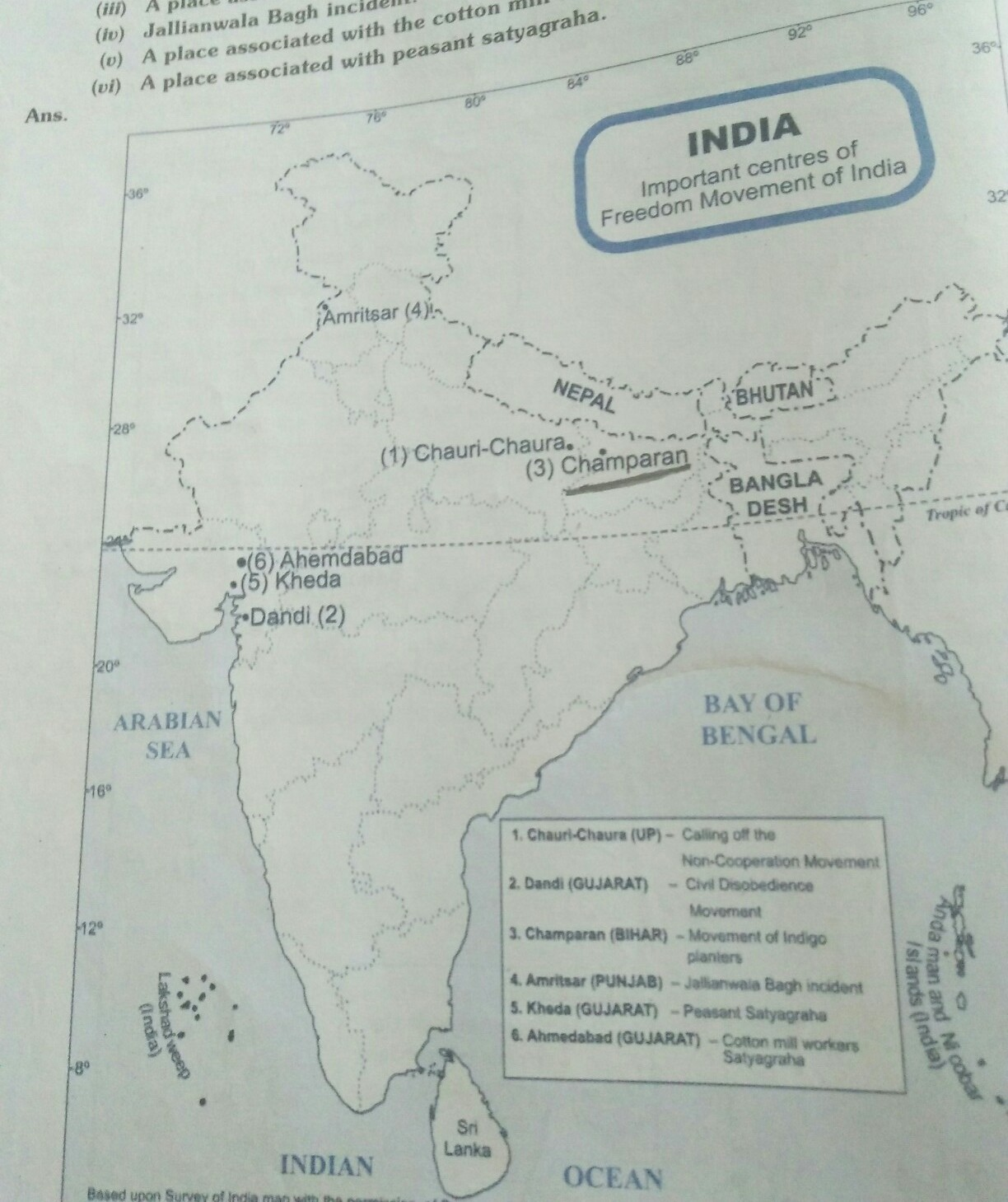 Champaran Bihar On Political Map Of India Brainly In
