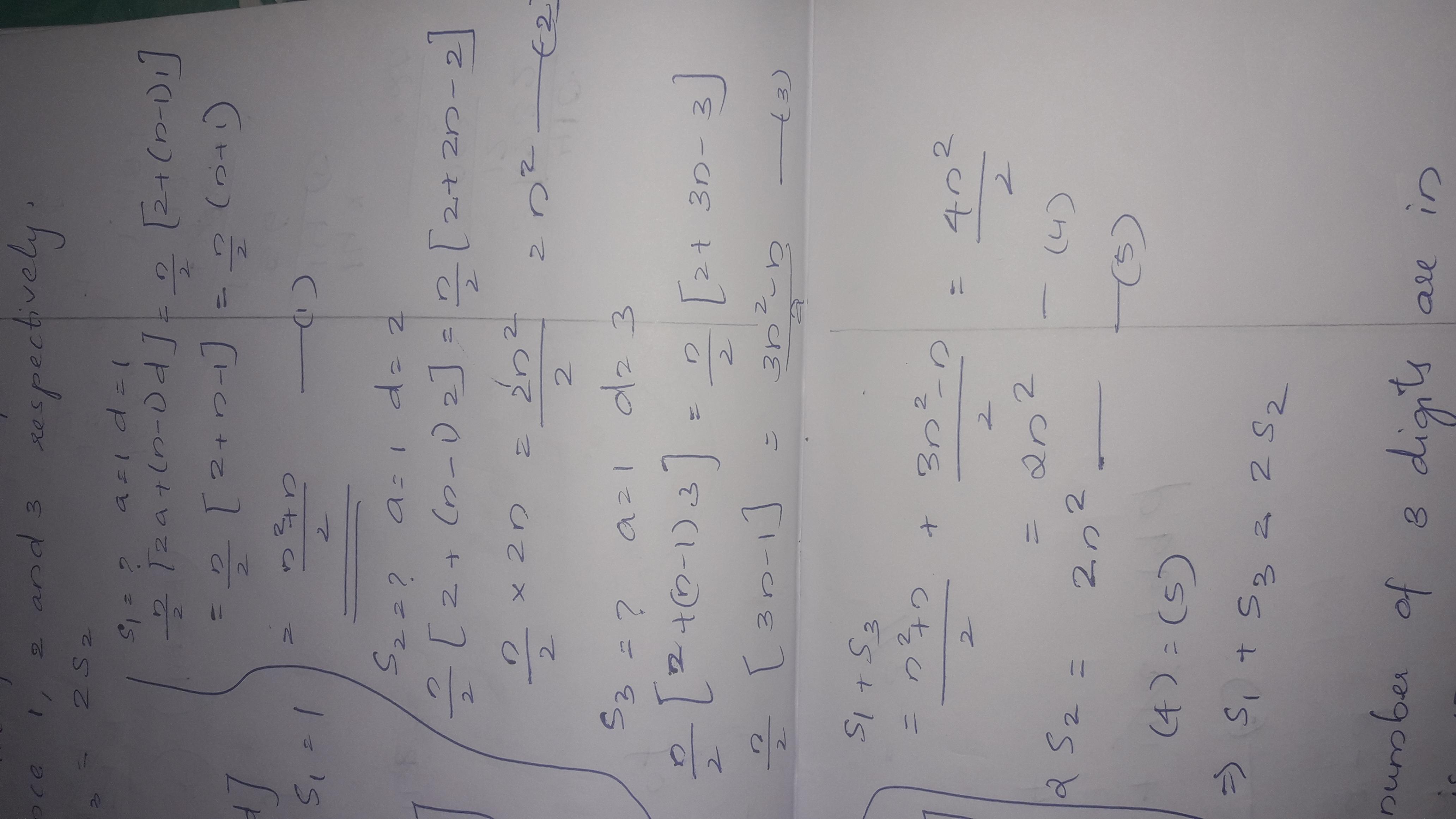 If S1 , S2 , S3 are the sum of n terms of three AP's, the first term