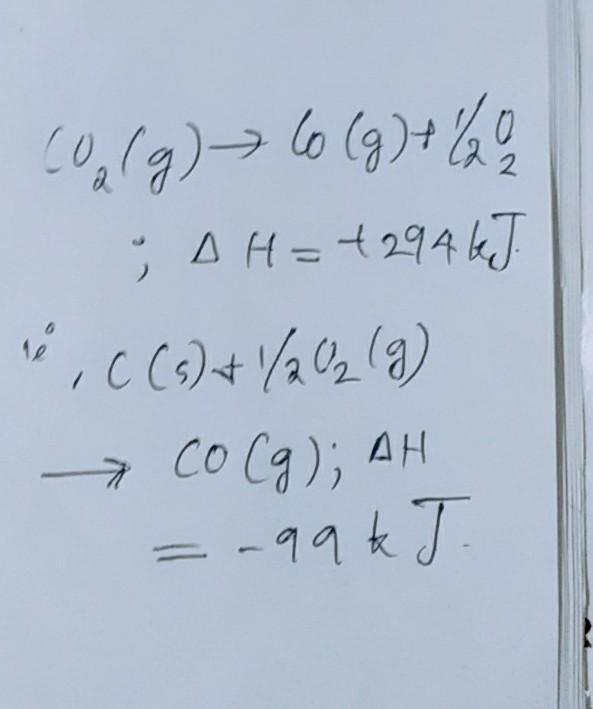 Calculate ΔH for the reaction given the following
