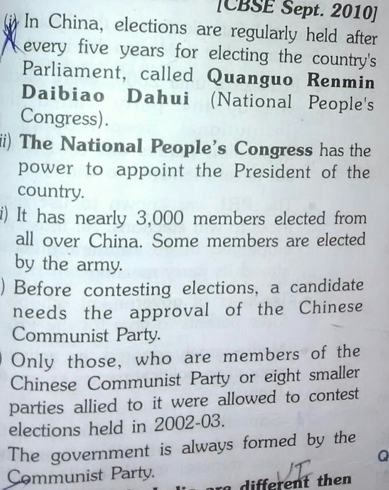 are there free and fair elections in china