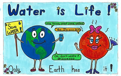 A Poster On Save Water