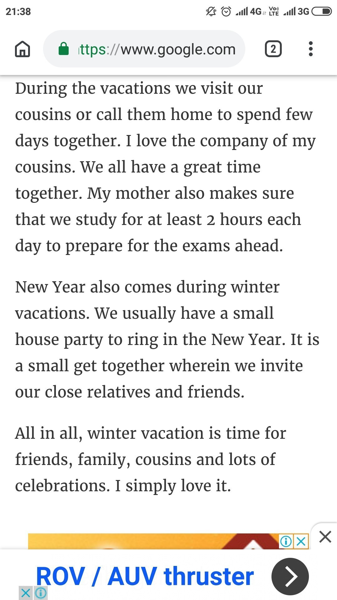 essay of winter vacation in Hindi - Brainly in