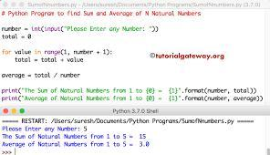write a python program to find average of list of numbers ...