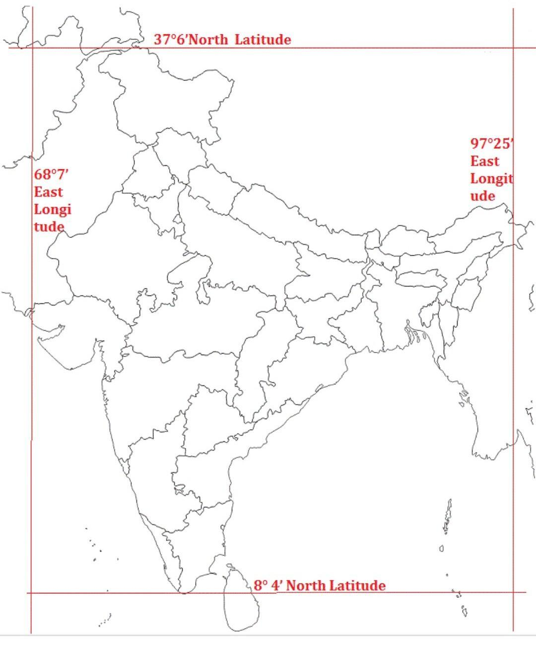 Intiaxanadiacent Countriesin The Physical Map Of India In The Physical Map Of India Mark The Equator Brainly In