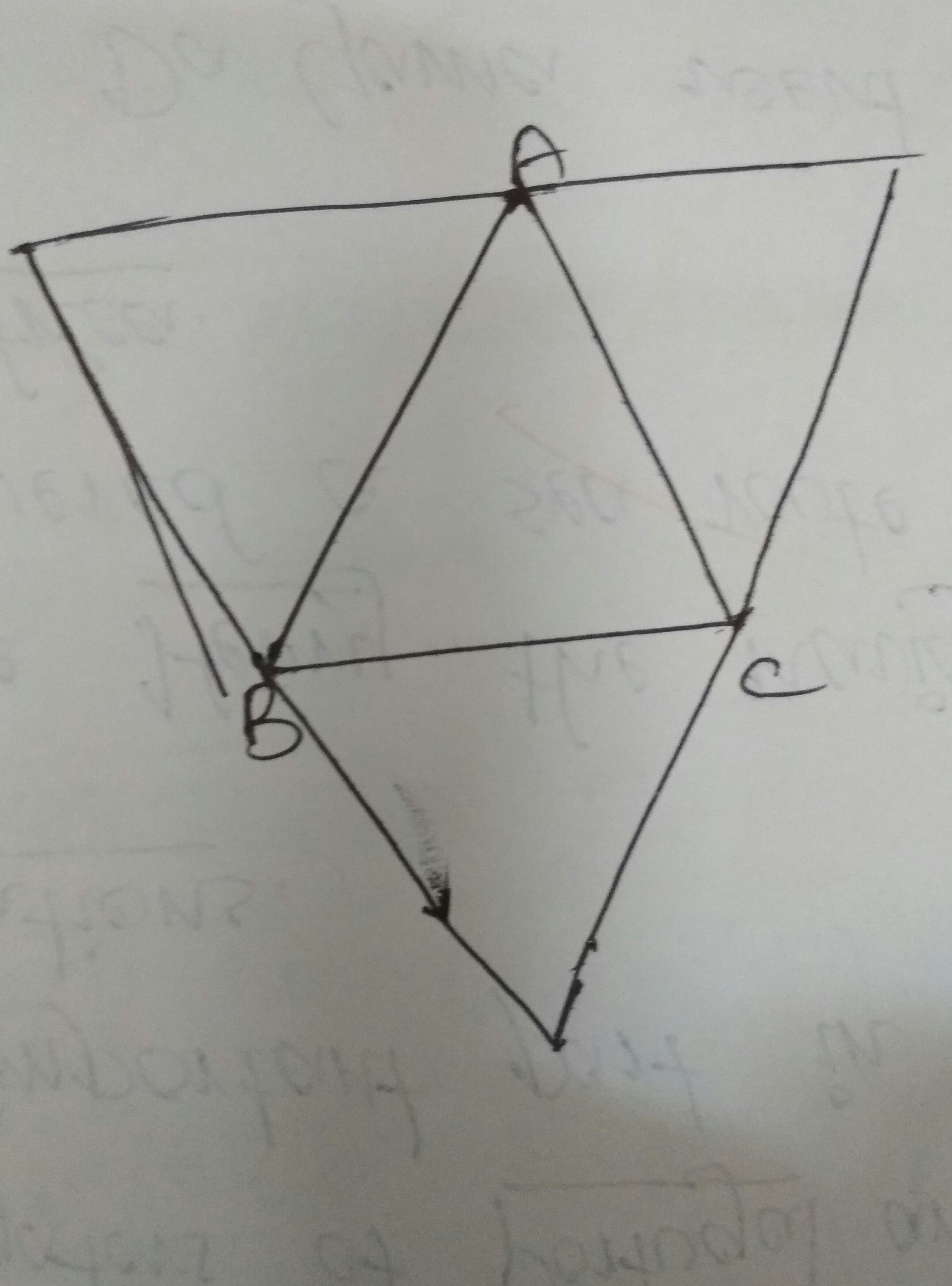 Draw A Triangle Abc Through Each Vertex Of The Triangle Draw A Line