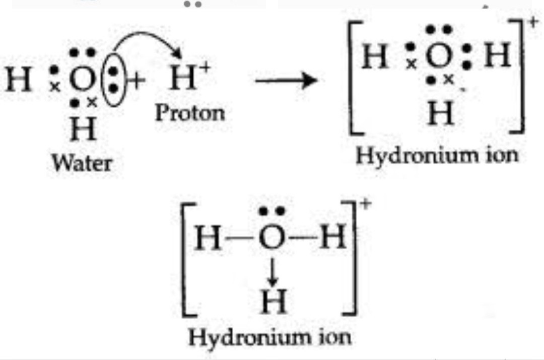 Electron Dot Structure Of Hydronium Ion