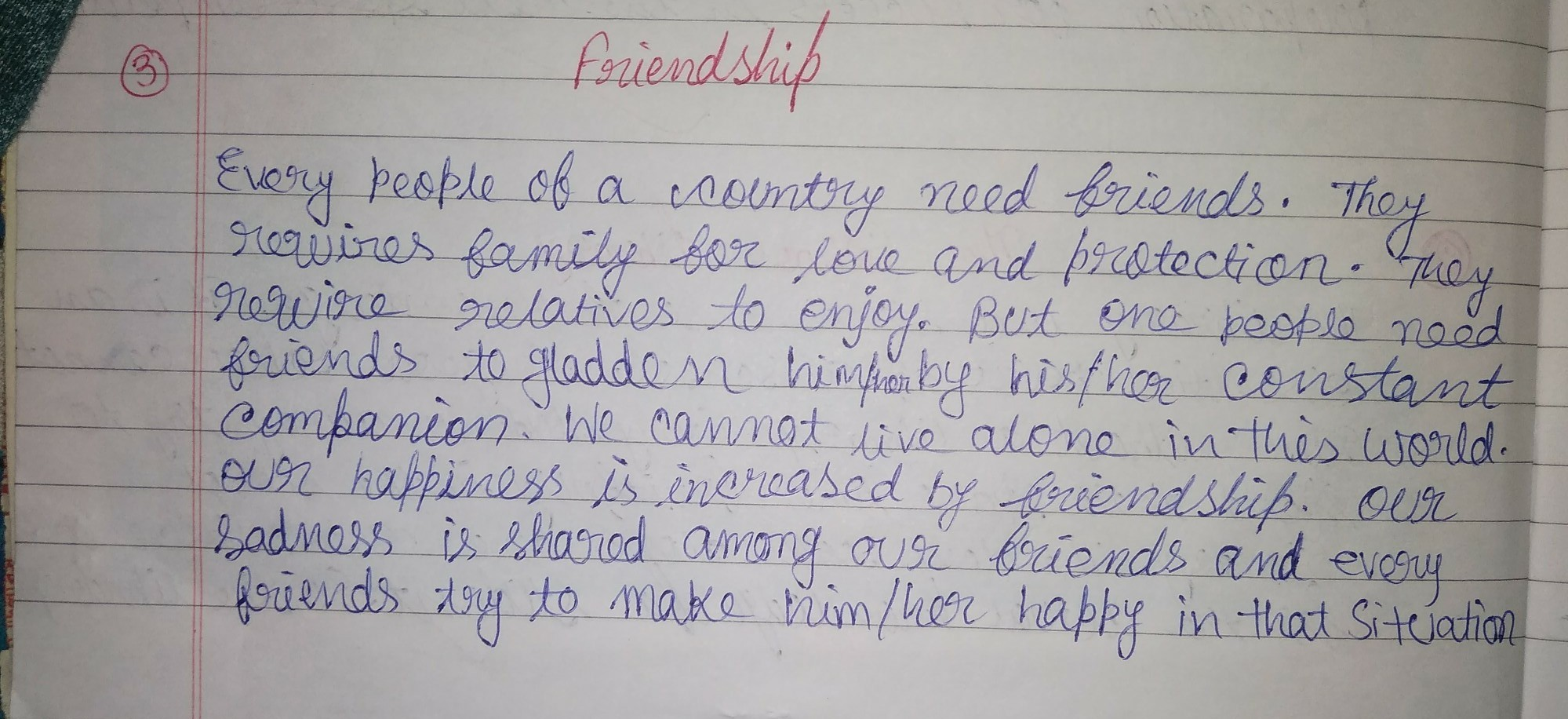 write a short paragraph on friendship brainly in