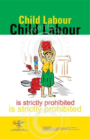 prepare poster on child labour brainly in