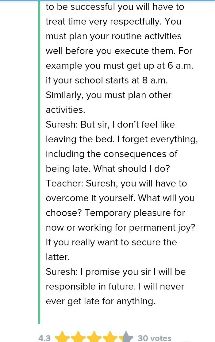 dialogue writing between teacher and student