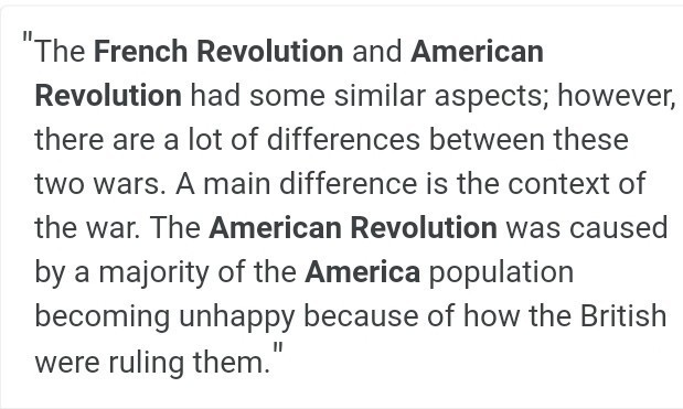 differences between the french and american revolution