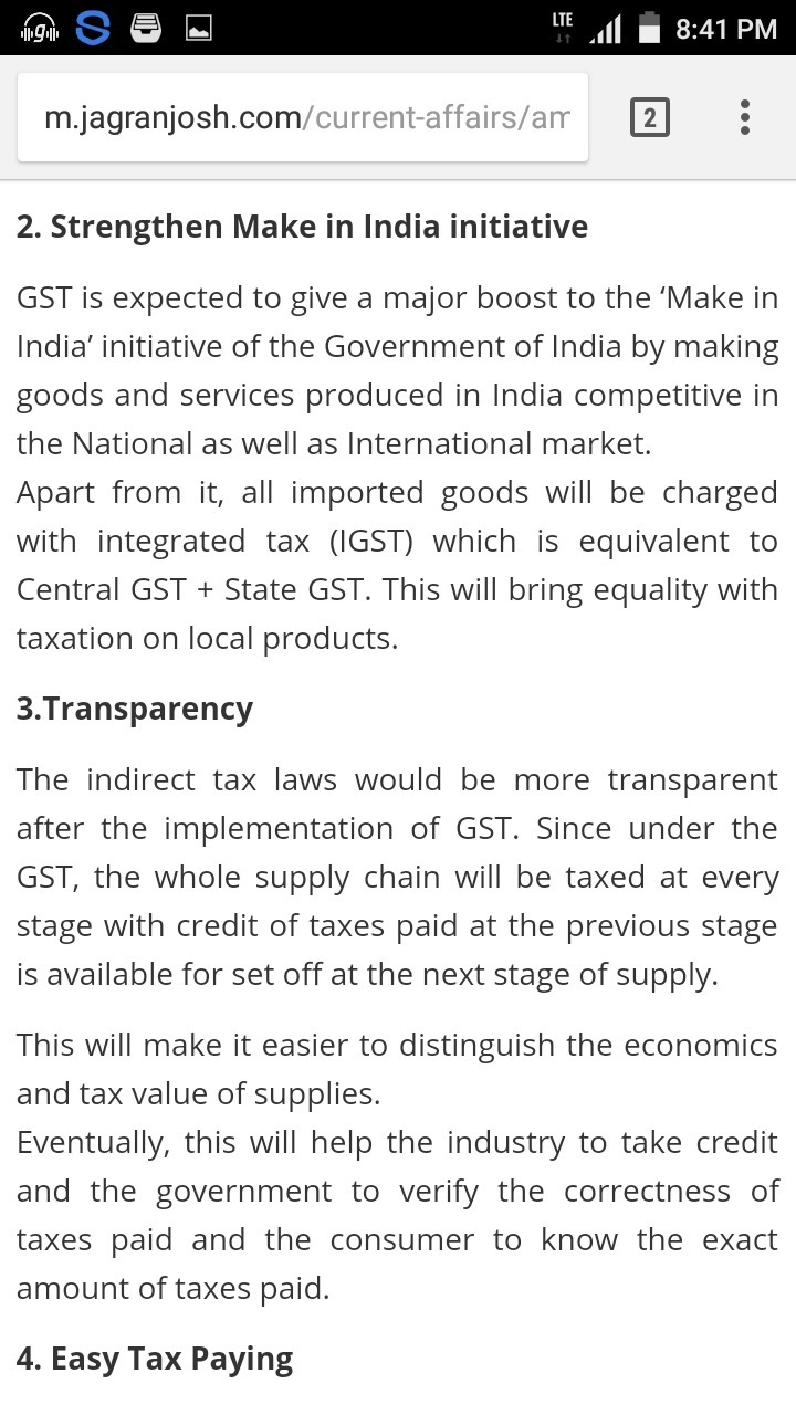 impact of gst essay positive points in  jpg