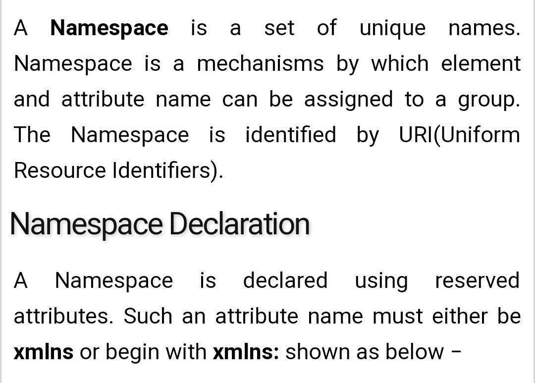 What is XML namespaces ? - Brainly in