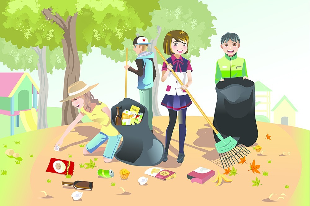 how to keep our surroundings clean points