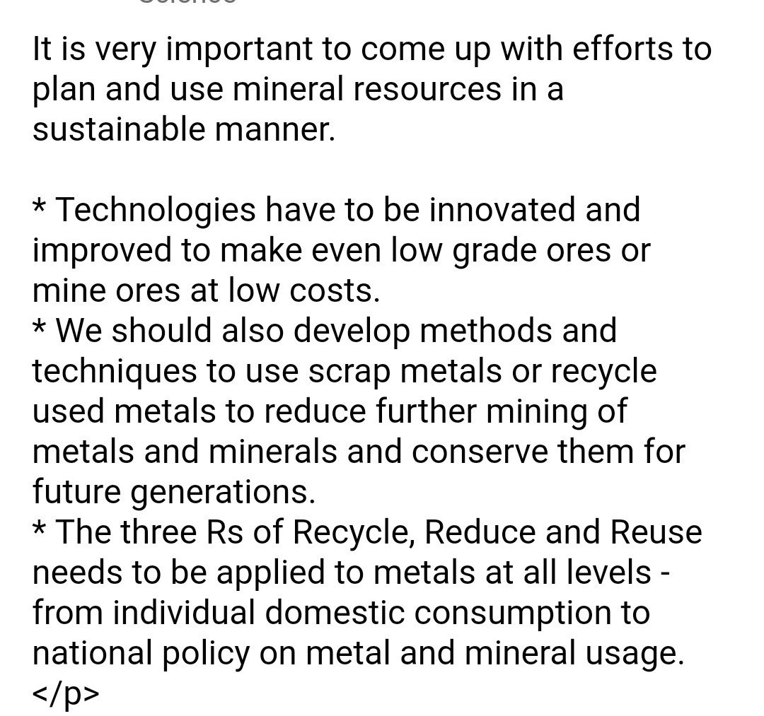 What efforts are required to use mineral resources in a