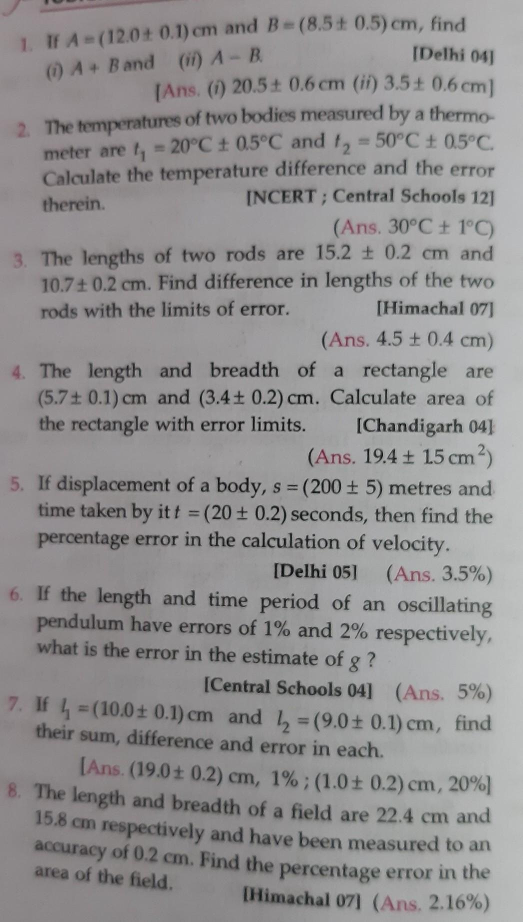 need answer of class 11 ch 2 of SL ARORA question no  1 - Brainly in