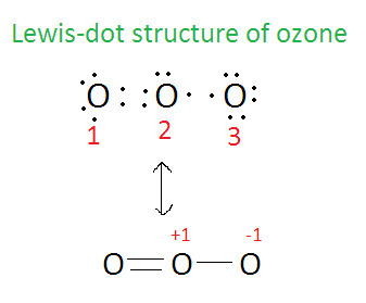 o3 lewis dot diagram calculate the formal charge of each oxygen atoms in ozone brainly in  formal charge of each oxygen atoms