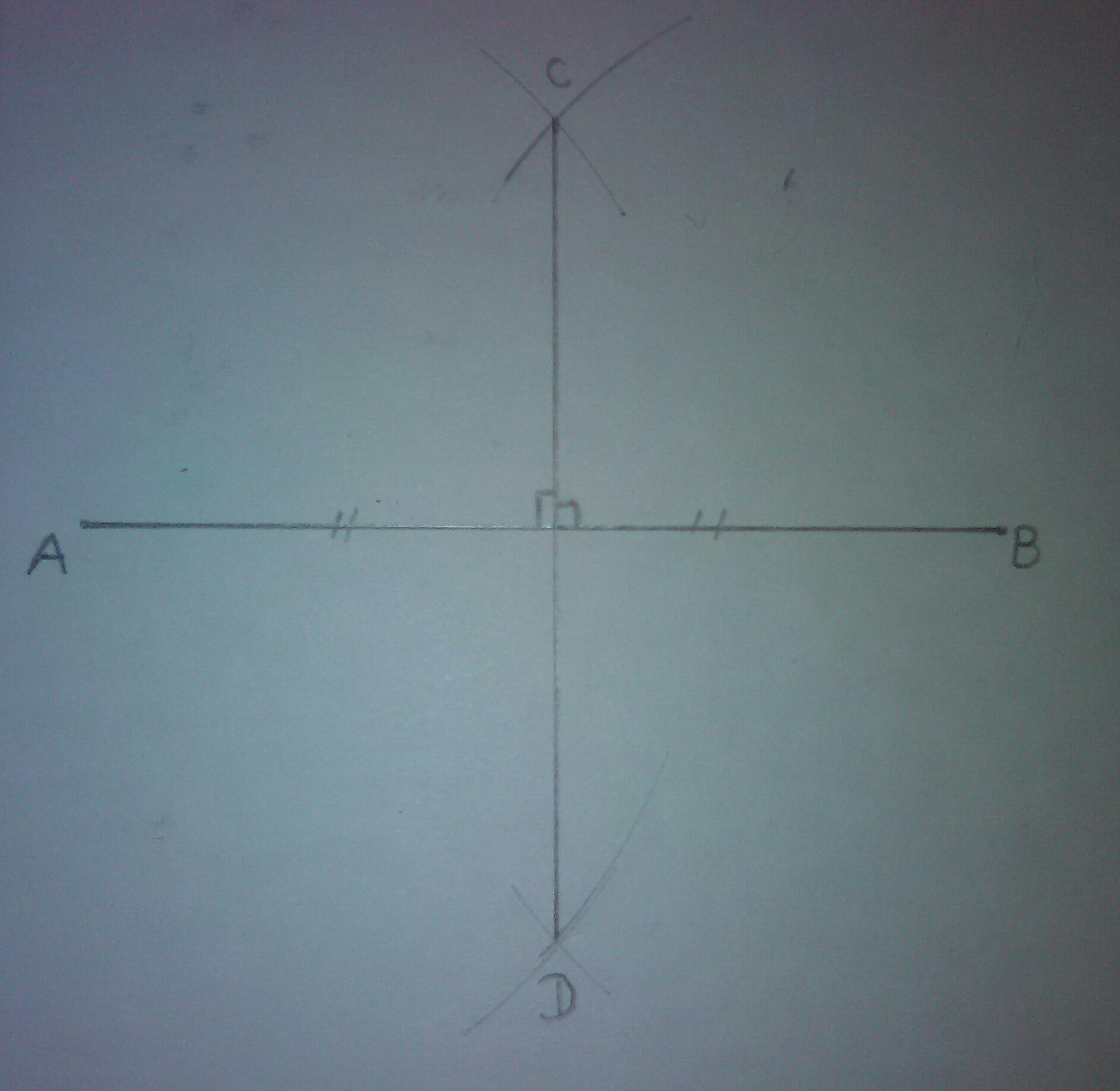 Draw A Line Segment Of Length 9 5 Cm And Construct Its Perpendicular