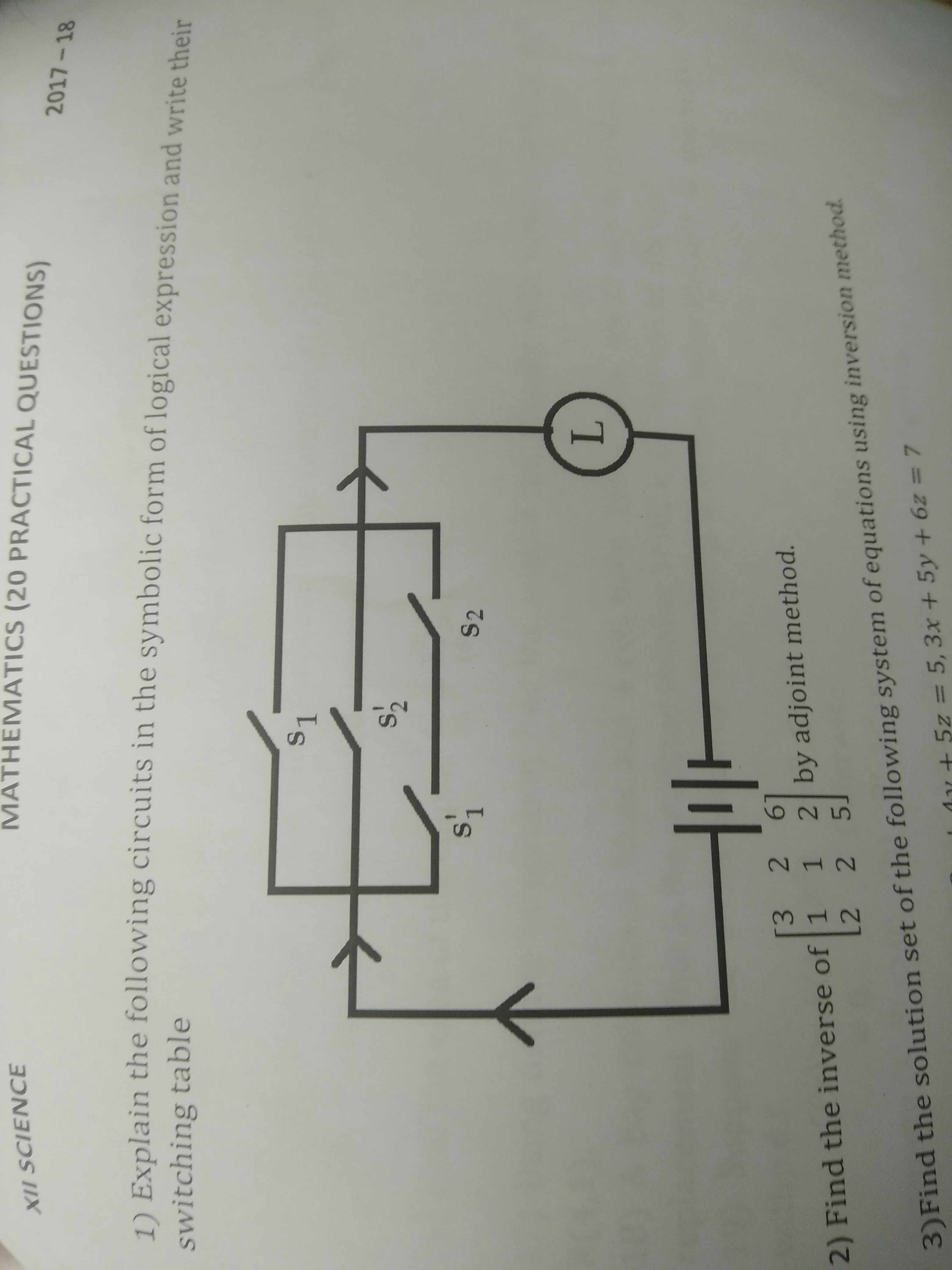 explain the following circuit in the symbolic form of logical ...