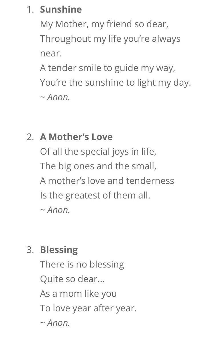 Happy Mother S Daytumhari Mummy K Liye 1 Poem Likh Do Poem On