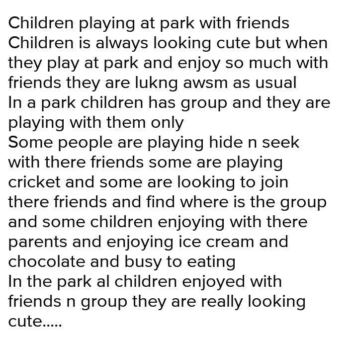 Essay about park for children upward bound resume
