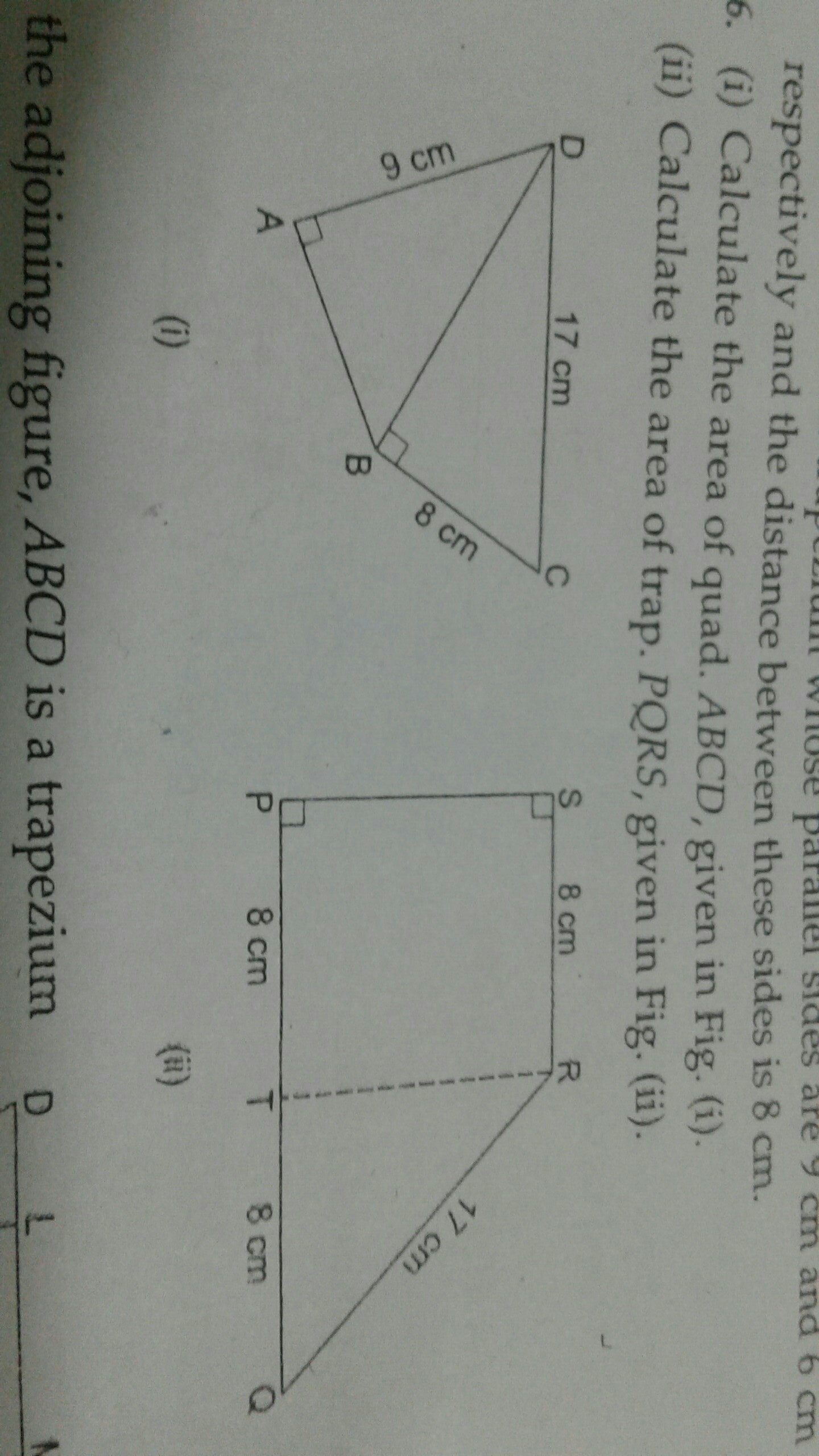 calculate the area of quadrilateral ABCD calculate the area