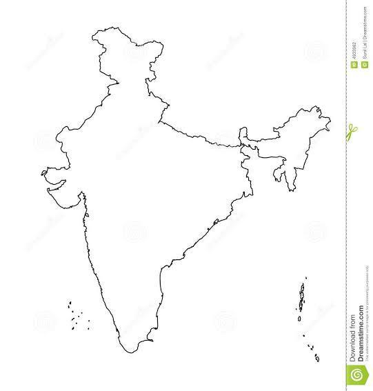 India outline map hd without any watermark - Brainly in