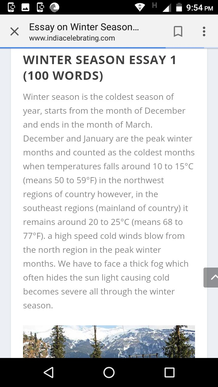 winter in kashmir essay for 6th class