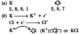 Write The Electron Dot Structure For Potassium Chloride Show The Formation Of Kcl By The Transfer Of Brainly In