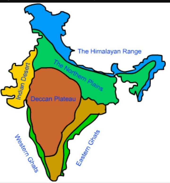 On physical map of india mark deccan plateau.plz tell me fast ... on