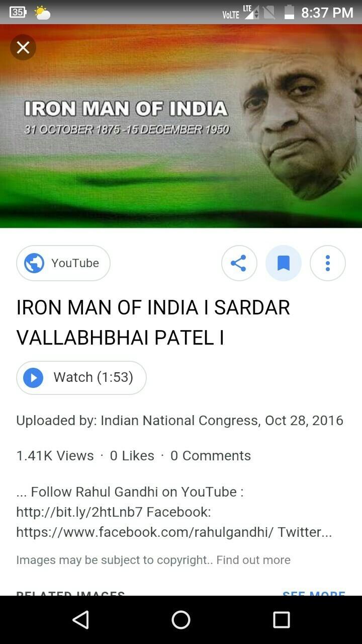 speech on sardar vallabhbhai patel
