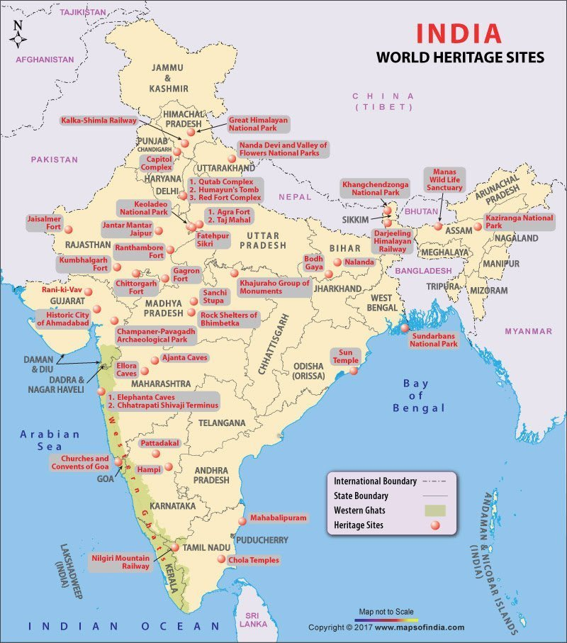 show the indian heritage sites on the map of india - inly.in Show Indian Map on show indian flag, live indian map, sketch indian map, search indian map, great indian map, open indian map, good indian map,