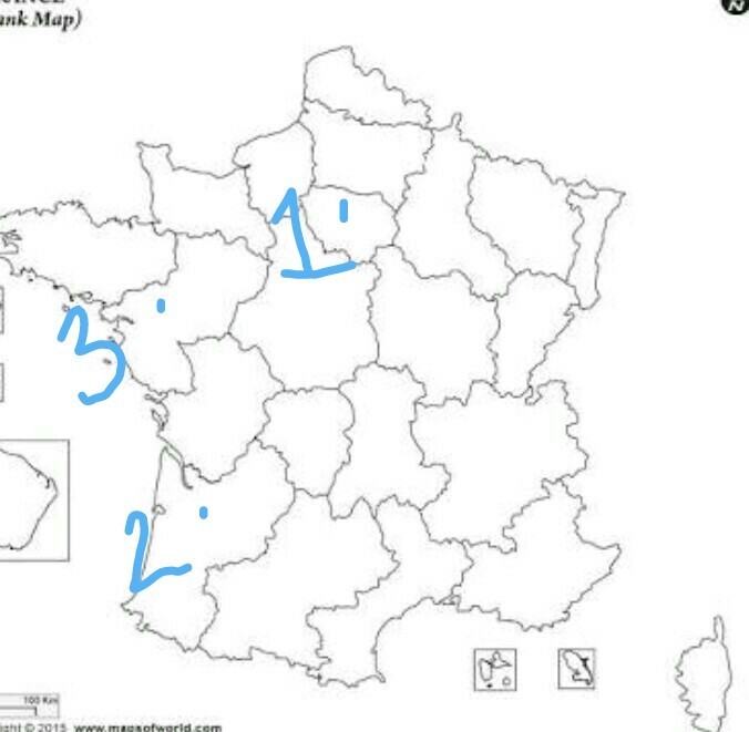 Map Of France Nantes.On Political Map Of France Mark Paris Nantes Bordeaux Brainly In
