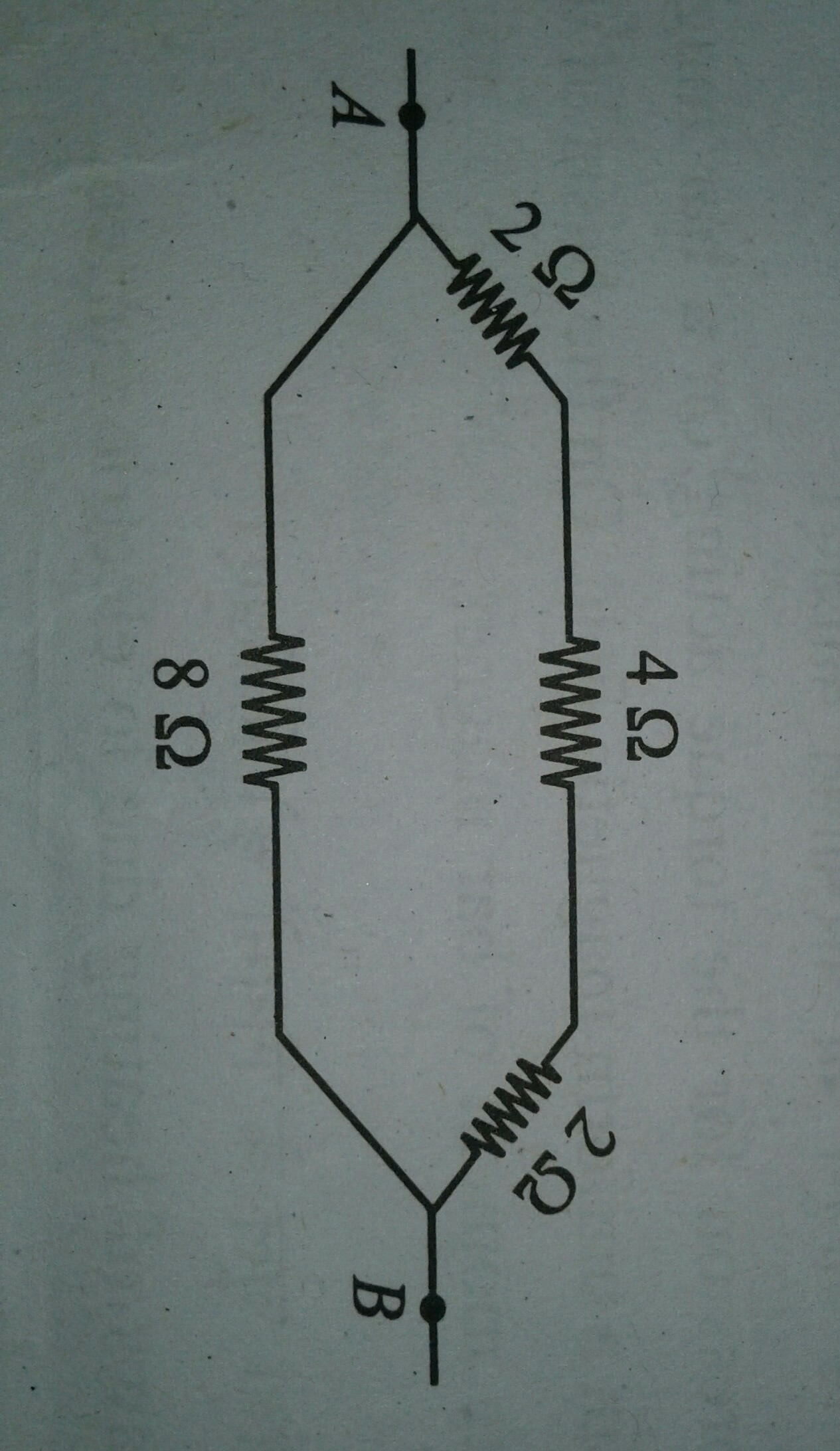Find The Equivalent Resistance Between Points A And B Of Resistors What Is Circuit Below Download