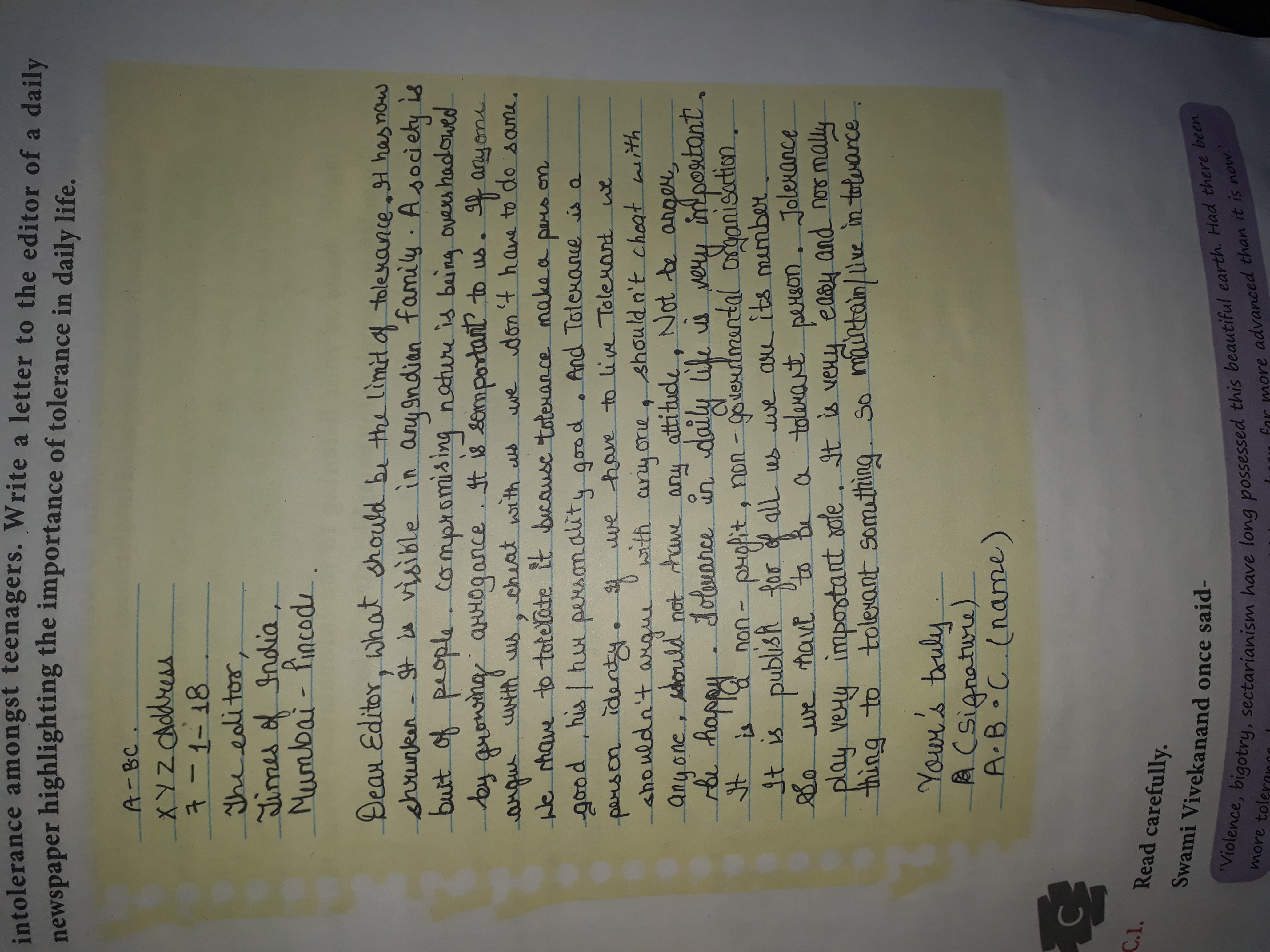 intolerance among youth essay