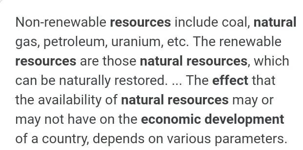 write down the different types of resources and how it