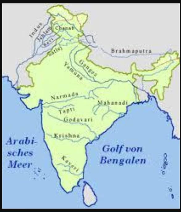On An Outline Map Of India Locate And Label River Ganga Kaveri And