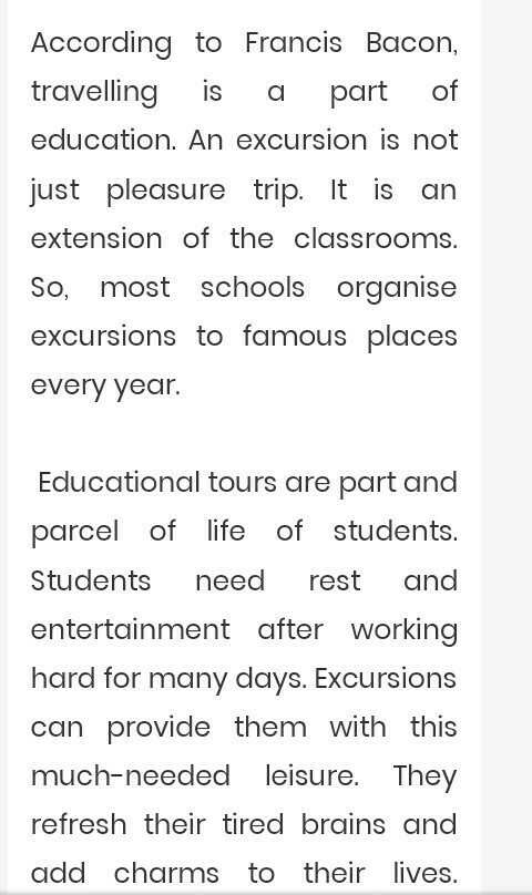 Write An Essay On Importance Of Excursion In School  Brainlyin Download Jpg