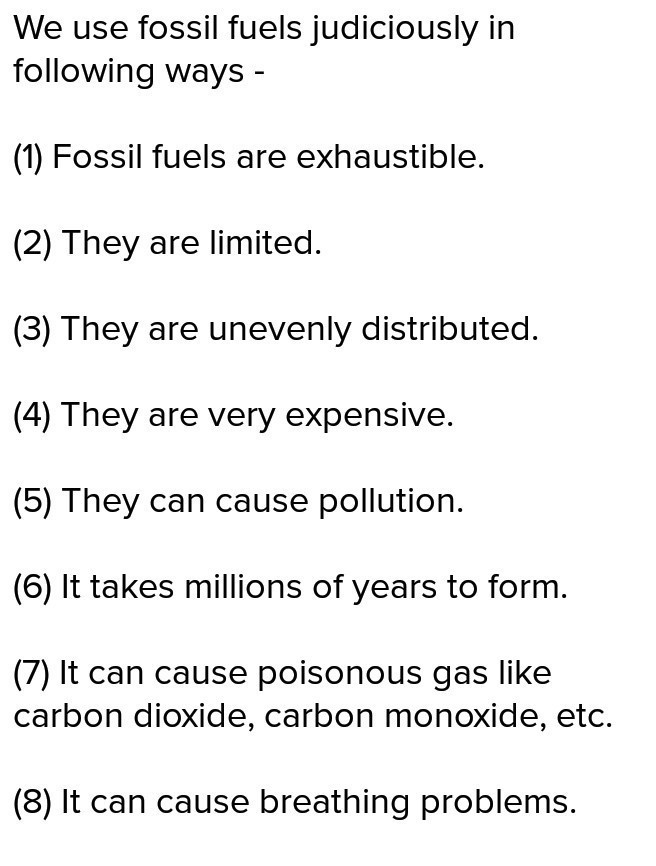 Judicious use of fuel