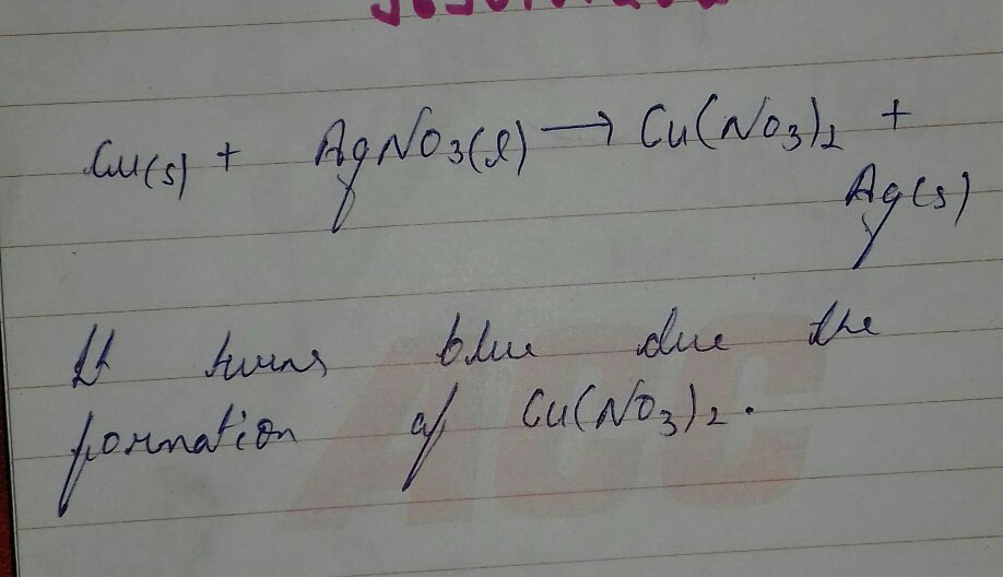 Balanced Chemical Equation When Silver Is Precipitatedout When A