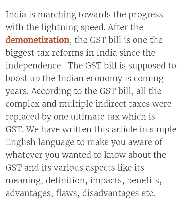 speech on GST   near about 2 mins speech - Brainly in