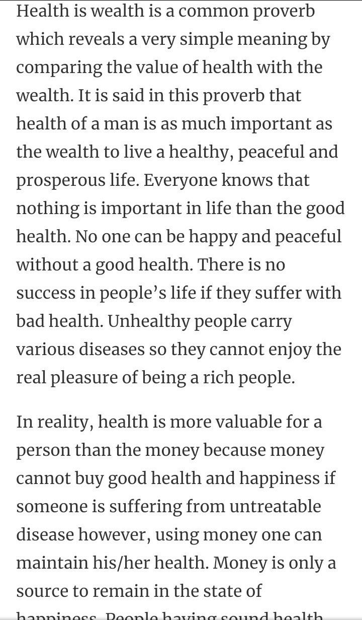 paragraph on health is wealth for class   brainlyin download jpg