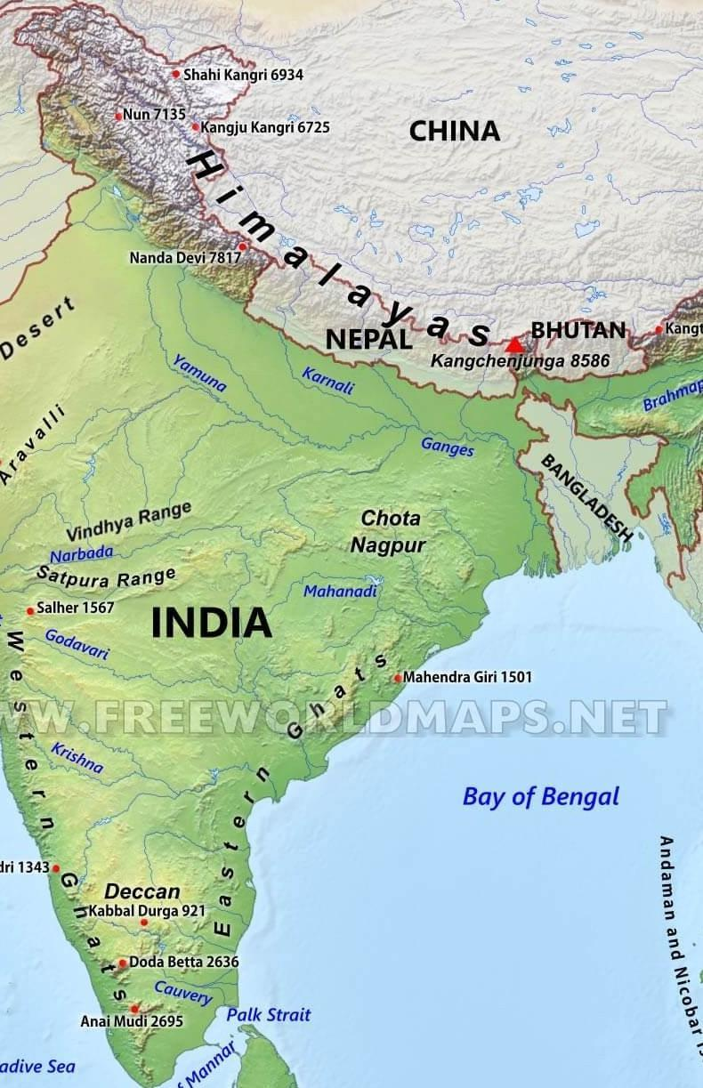 images of physical map of india Locate Kanchenjunga On Physical Map Of India Brainly In images of physical map of india