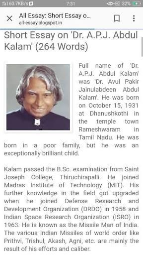 paragraph on dr apj abdul kalam