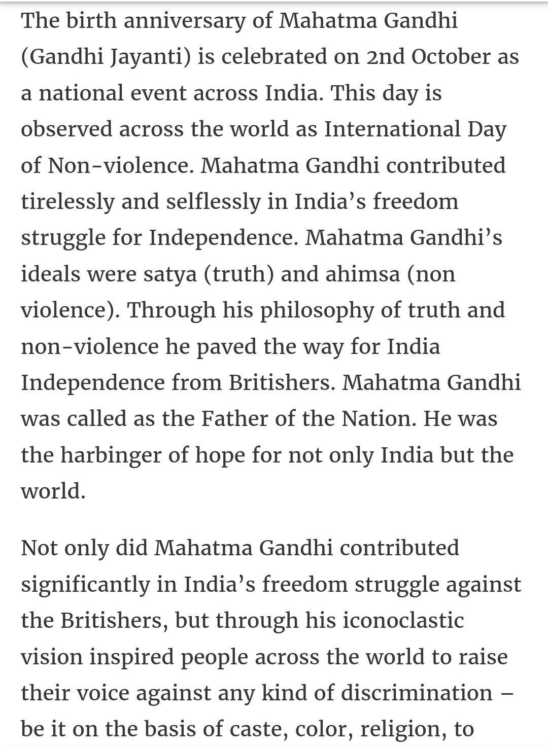 Essay about mohandas karamchand gandhi