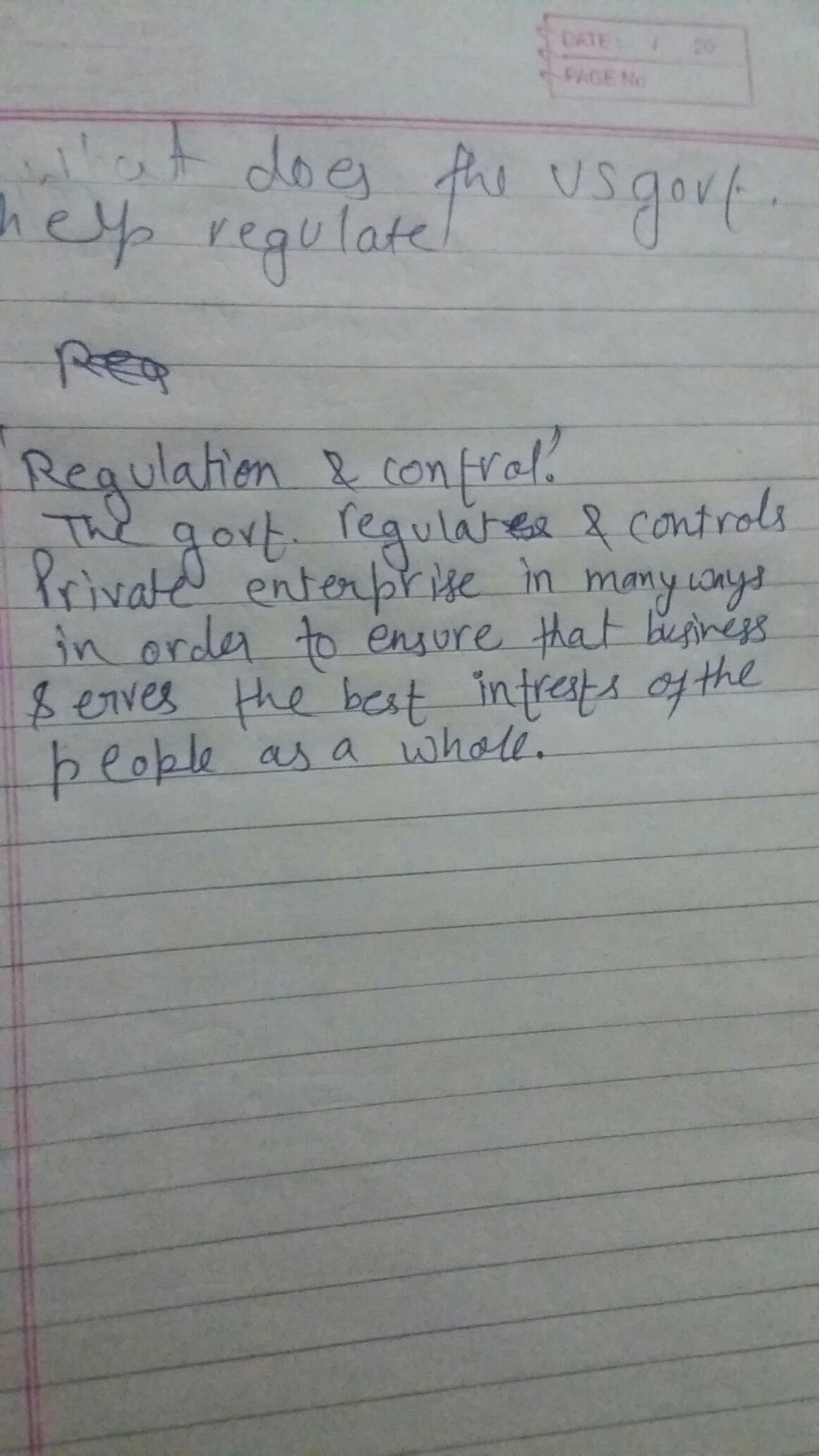 what does the us government help regulate - brainly.in