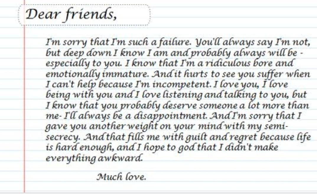 sorry letter on my best friend    Brainly.in