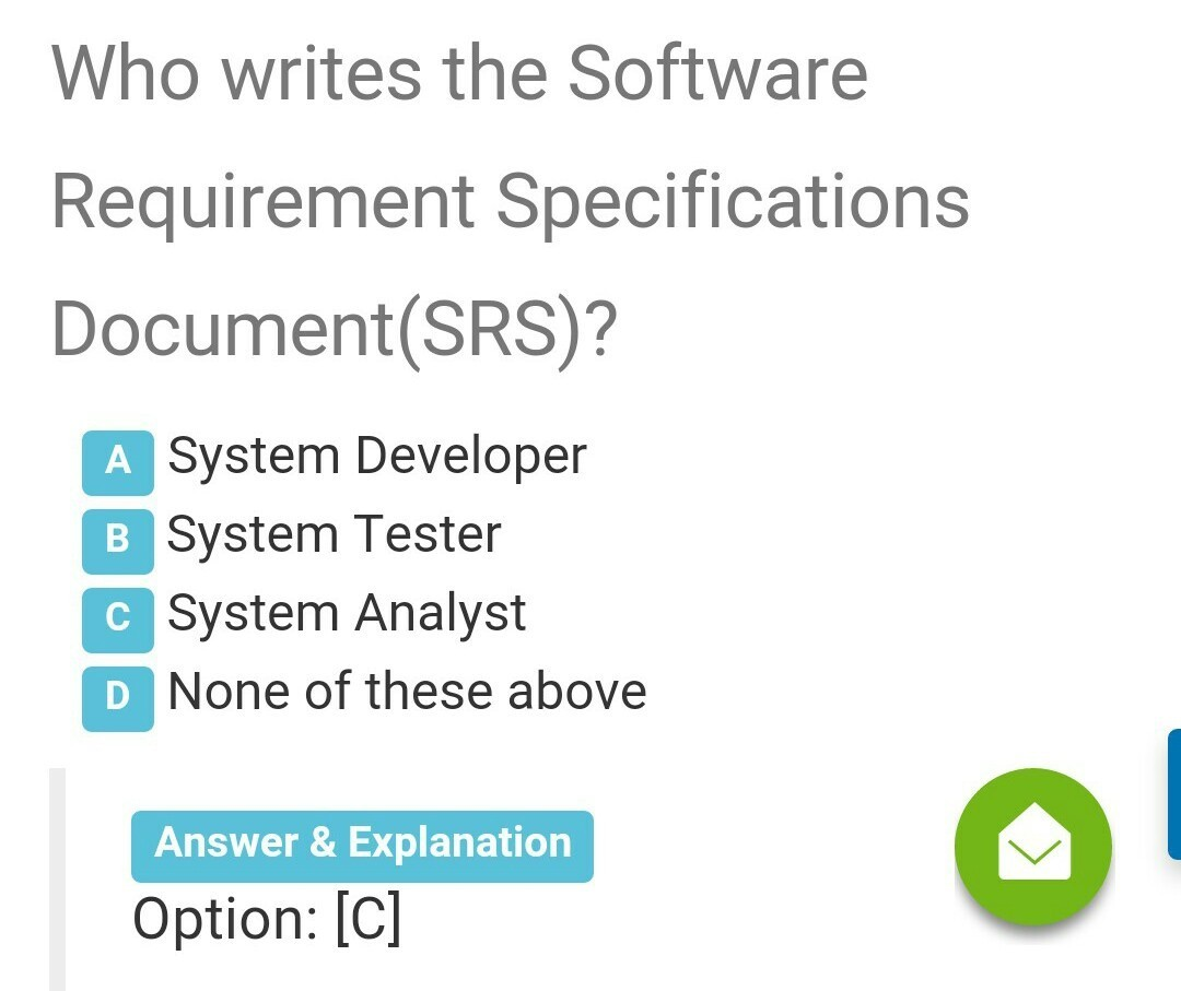 Who Writes The Software Requirement Specifications Documentsrs